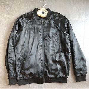 Brunette The Label Satin Bomber NWT